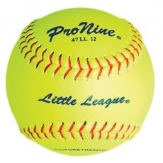 "Pro Nine 47 LL12 47/375 Official Little League Leather Fastpitch Softballs, 12"", dz"
