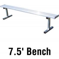 Jaypro PB-75 Aluminum Player Bench, PORTABLE, 7.5'