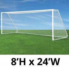 Jaypro CC24S Classic Club Soccer Goals, 8' x 24', pair