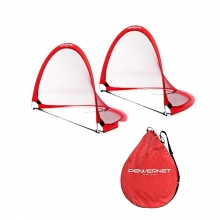 POWERNET 1.5' x 2.5' Round Pop Up Soccer Goal (2 Goals + 1 Bag)