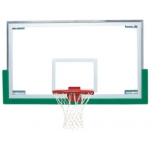 "Bison BA42E 42'' x 72"" Standard Short Glass Basketball Backboard"