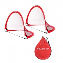 POWERNET 3' x 4' Round Pop Up Soccer Goal (2 Goals + 1 Bag)
