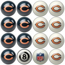 Chicago Bears NFL Home vs Away Billiard Ball Set