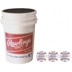 Rawlings 3 dz R100HSX High School Practice Ball & Bucket Combo