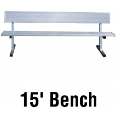 Jaypro PB-20 Aluminum Player Bench w/ Backrest, PORTABLE, 15'