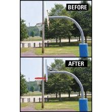 Jaypro Hoop Rejuvenator, H-Frame Kit w/ RECTANGULAR BOARD & Breakaway Goal