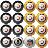 Pittsburgh Steelers NFL Home vs Away Billiard Ball Set