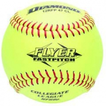 Diamond 12RFP 47/375 CL NFHS Leather Fastpitch Softballs, 12""
