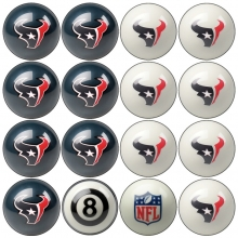 Houston Texans NFL Home vs Away Billiard Ball Set