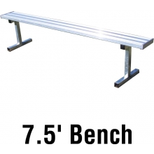 Jaypro PB-75 Aluminum Player Bench, PORTABLE, 7.5'