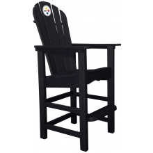 Pittsburgh Steelers NFL Outdoor Pub Captains Chair, BLACK