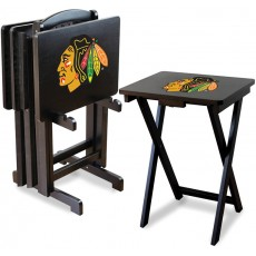 Chicago Blackhawks NHL TV Snack Tray/Table Set