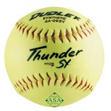 "Dudley Thunder SY 12"", 52/300 ASA Slowpitch Synthetic Softballs, dz"
