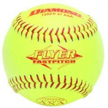 Diamond 12RFP 47/375 ASA Leather Fastpitch Softballs, 12""