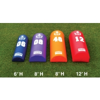 "Fisher Half Round Football Dummy,  6""H x 12''W x 42''L"