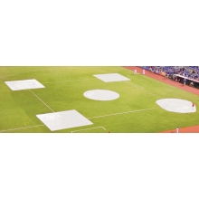 FieldSaver Spot Field Cover, Complete Baseball/Softball Infield Kit, WOVEN POLY