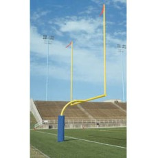 Bison Official College Football Goal Posts, 5-9/16'' dia., Yellow, FB55CG-SY
