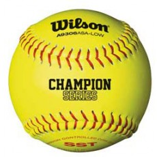 "Wilson WTA9106BASA-LOW 47/375 ASA Fastpitch Softballs, 12"", dz"