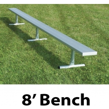 Aluminum Player Bench, PORTABLE, 8'
