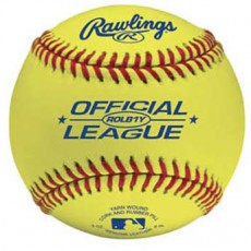 Rawlings ROLB1Y Optic Yellow Baseball, dz