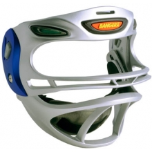Bangerz Softball Safety Fielder's Mask, Silver