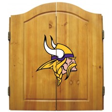 Minnesota Vikings NFL Dartboard Cabinet Set