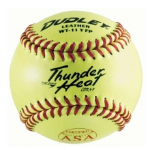 "Dudley 4A-531 11"", 47/375 ASA Thunder Heat Leather Fastpitch Softball, dz"