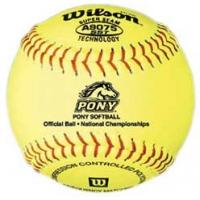 "Wilson A9075BSST 47/375 Pony Fastpitch Softballs, 12"", dz"