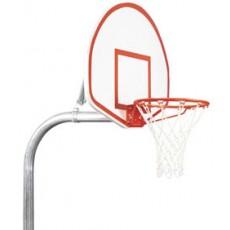 Bison PR29 3-1/2'' Gooseneck Economy Playground Basketball Hoop w/ ALUMINUM Fan Backboard