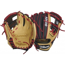 "Wilson WTA20RB16DP15SS A2000 Super Skin Red Laced Baseball Glove, 11.5"""