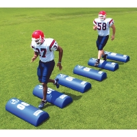 Fisher Half Round Football Dummy, 8''H x 16''W x 42''L