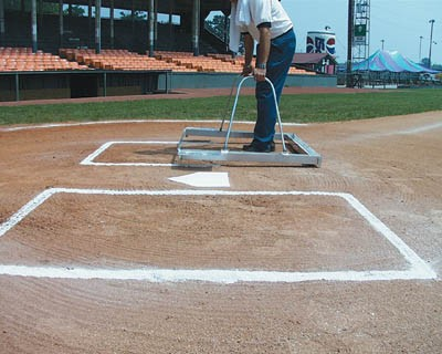 White Line 1591 E Z Softball Batter S Box Chalker Template