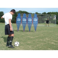Soccer Wall Pro Mannequins w/ Soccer Tennis Net, SET OF 4