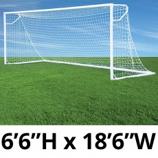 "Jaypro Nova Club Goals, Round, 6'6""H x 18'6""W (pair)"