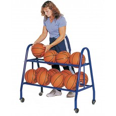Jaypro Heavy Duty Basketball Ball Cart, 18 BALL