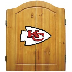 Kansas City Chiefs NFL Dartboard Cabinet Set