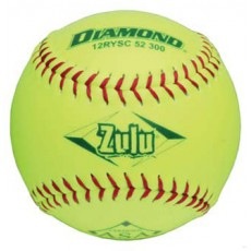 Diamond 12RYSC 52/300 ASA Synthetic Slowpitch Softball, 12""