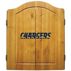 San Diego Chargers NFL Dartboard Cabinet Set