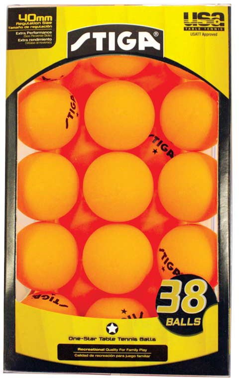 Stiga 1 star table tennis balls orange 38 pack for 1 star table tennis balls