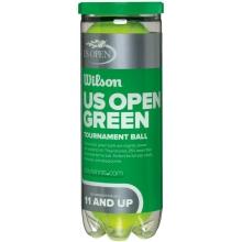 Wilson US Open Green Dot Tournament Transition Tennis Balls, 72 balls/cs