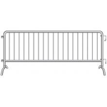 "Crowdstopper 8'6""L Crowd Control Steel Barricade w/ Bridge Foot"