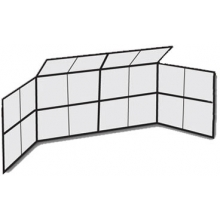 20' x 10' w/ Partial Hood Permanent Baseball/Softball Backstop, BSCL20