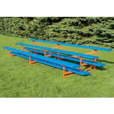 Jaypro 3 Row, 15' STANDARD Bleacher, POWER COATED