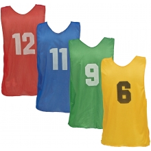 Champion Numbered Scrimmage Vest Pinnies, ADULT
