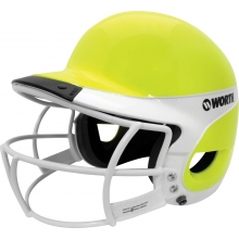 Worth Liberty Away Optic Yellow Softball Batting Helmet WLBHA
