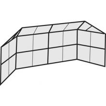 Permanent Baseball / Softball Backstop, 20' x 10', w/ Full Hood
