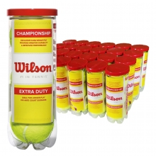 Wilson Extra Duty Championship Tennis Balls, WRT1001 case of 72