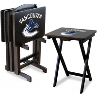 Vancouver Canucks NHL TV Snack Tray/Table Set