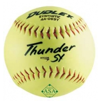 Dudley Thunder SY 52/300 ASA Synthetic Cover Slowpitch Softball, 12""