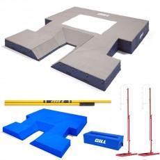 "Gill S4 21'6"" x 24' x 28"" Pole Vault Pit Value Pack, VP65817"